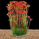 LYNKO Grandes Plantes d'aquarium artificielles en Plastique pour decoration d'aquarium, sans Danger pour Tous Les Poissons de 40 cm de Haut (18 cm) de Large