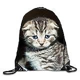 uykjuykj Bolsos De Gimnasio,Mochilas,Yellow and Green Sackpack Drawstring Backpack Waterproof Gymsack Daypack For Men Women Baby Kitty6 Lightweight Unique 17x14 IN