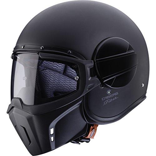 Caberg Ghost - Casco de motocicleta con cara abierta, color negro mate