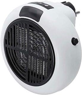 Swarouskl Minifalda portátil 900w Calentador eléctrico de Escritorio de calefacción del Aire del Ventilador habituales Fuertes Office Pared práctico Calentador de Aire cálido baño Radiador Ventilador