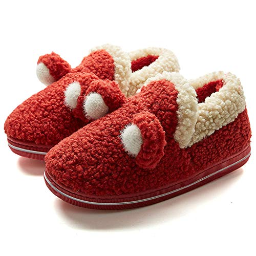 B/H Sandalias para Mujer,Bolso de Mujer de Felpa de Suela Gruesa para Interiores para el hogar con Zapatos de Mes-A_39 / 40