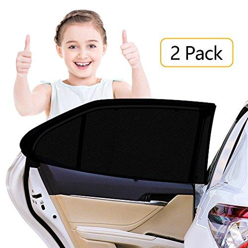 HWeggo Autofenster Sonnenschutz Heckscheibe,Sonnenschutz Auto Baby mit UV Schutz für Kinder Hund im Rücksitz-Ohne Saugnapf Sonnenschutz 100x50cm