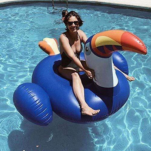 YLJYJ Piscina Fila Flotante-Blue Toucan Fila Flotante Cama Flotante Inflable Cojín de Aire Flotante de Agua DSB (Piscinas)