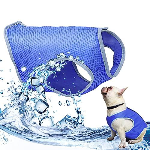 ChalecoRefrescanteparaPerros, Chaleco de Refrigeración para Perro, ChalecodeEnfriamientoparaMascotas, Chaleco Refrescante Perro, Pets Summer Cooling Vest para Perros Pequeños y Medianos (S)