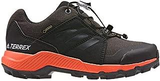 adidas outdoor Terrex GTX Kids Hiking Shoe Boot, Black/Carbon/True Orange, 3.5 Child US Big