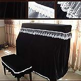 Pleuche Upright Piano Abdeckung Staub-Beweis-Tuch-Klavier-Tastatur-Schutz-Abdeckung Mit Hockern Hüllen Spitze-Ordnungs-Vorhang Designermöbel Dekorative Cloth