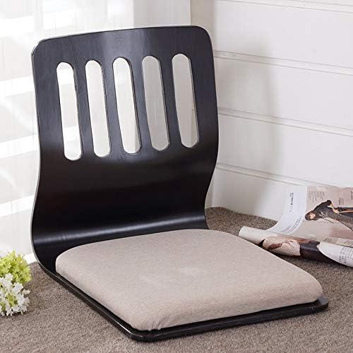 GYCOZ Lot de 4 chaises japonaises pour décoration de la maison - Noir/finition cerise - Pour salon B