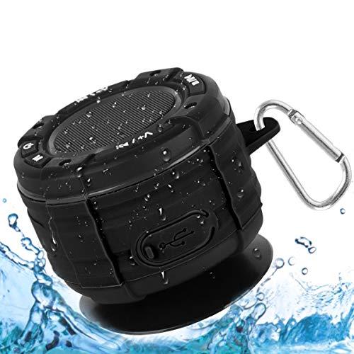 Dusche Lautsprecher, IPX7 wasserdicht Tragbares Bluetooth Lautsprecher Wasserfester Wireless Speaker mit FM Radio Wireless Bluetooth Speaker mit Super Bass und HD Sound Lautsprecher für Strand Pool