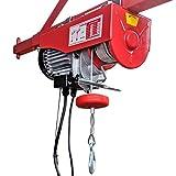 Paranco a fune Crossfer PA600 Verricello a fune con puleggia di ritorno Capacità di sollevamento 600 / 3000KG altezza di sollevamento 12 / 6m 230V