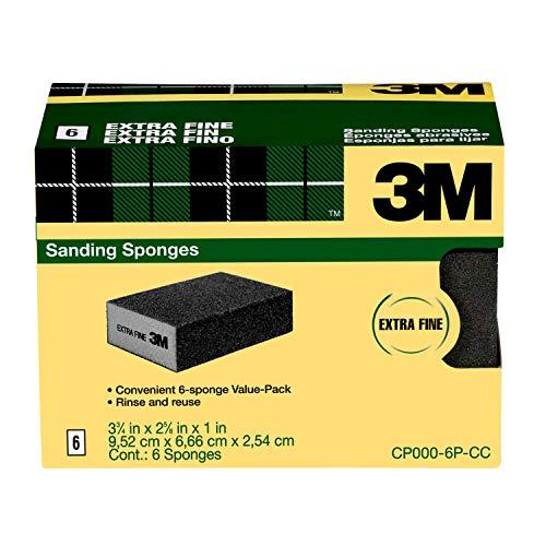 3M Sanding Sponge - Extra Fine Grit - 6 Pack