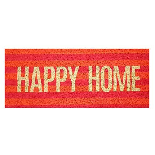 """Gift Company Felpudo, diseño con texto """"Happy Home"""", multicolor"""