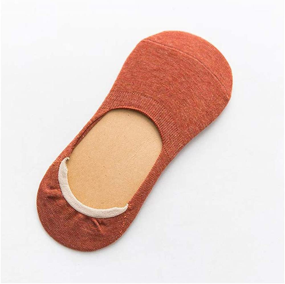 10 pieces = 5 pairs Spring summer women socks Solid color fashion wild shallow mouth girls female invisible slipper socks,as pic,One Size
