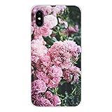 HUAI Cubiertas de Apple iPhone X XR XS 11Pro MAX 4S 5S 5C SE 6S 7 8 Plus iPod Touch 5 6 púrpura de Verano de los Peonies Accesorios Shell (Color : Images 4, Material : For iPod Touch 6)