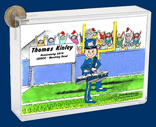Personalized Friendly Folks Cartoon Caricature Bank: Marching Band – Three Drum – Male
