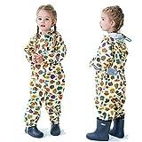 Baonmy Chubasquero para niños y niñas, unisex, con capucha, diseño bonito, impermeable, poncho transparente con rayas reflectantes