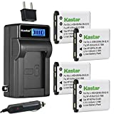 Kastar 4-Pack KLIC-7006 Battery and LCD AC Charger Compatible with Kodak KLIC-7006 LB-012 Battery and Charger, Kodak PixPro FZ51 (KDK-FZ-51BL), PixPro FZ52, PixPro FZ53, PixPro SL5 Smart Lens Cameras