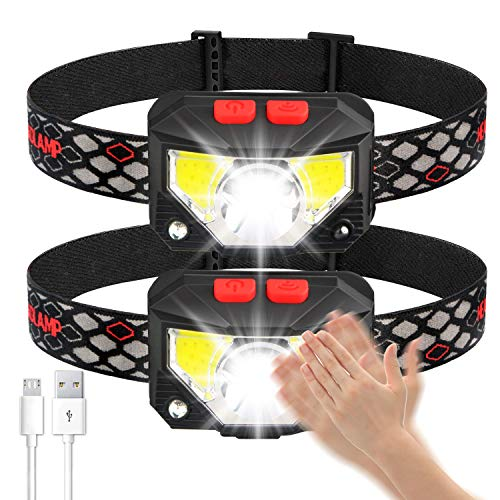 professional Soft digit headlights, 1000 lumen rechargeable USB headlights, 8 operating modes, …