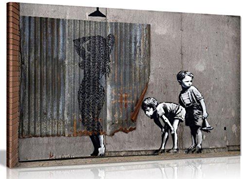 Panther Print Kunstdruck auf Leinwand, Banksy Dismaland, 76 x 51 cm