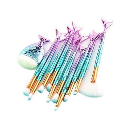 MEISINI Maquillage Pinceau À Sourcils Eyeliner Fard À Joues Contour Fondation Cosmétique Beauté Outil Pinceau De Maquillage, 11 Pcs