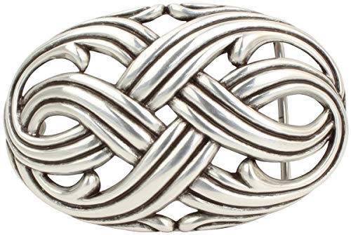 Brazil Lederwaren Gürtelschnalle Aversa 4,0 cm   Buckle Wechselschließe Gürtelschließe 40mm Massiv   Wechselgürtel bis 4cm   Silber