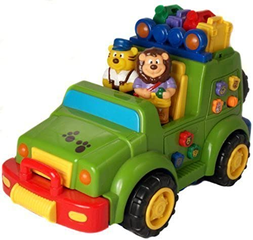 Megcos Musical Jeep Toy Safary Explorer -Affordable Gift for your Peu One  Item  LMID-1230 by Megcos