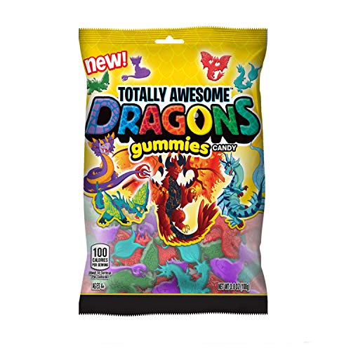 Totally Awesome Dragons Gummies, Assorted Flavors (Pack Of 12)
