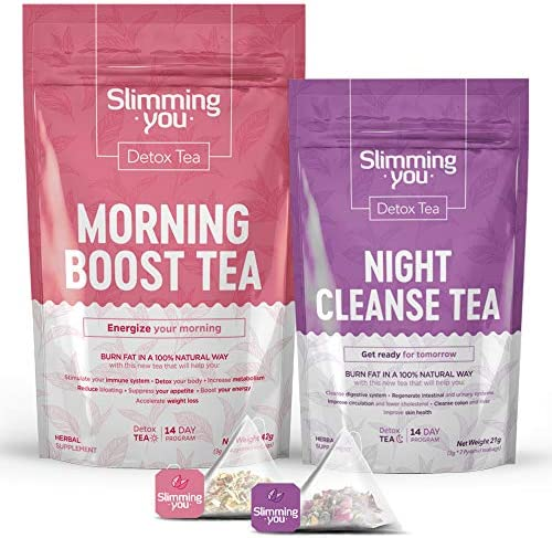 Detox Tea for Weight Loss and Belly Fat 14 Day Teatox Herbal Slim Tea for Body Detox Colon Cleanse product image