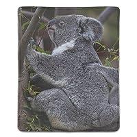 マウスパッド おしゃれ 高耐久性 滑り止め 防水 PC ラップトップ 水洗い レーザー 光学式 18*22cm コアラオーストラリア草食動物の森の木