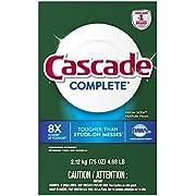 Cascade Complete Powder Dishwasher Detergent, Fresh Scent, 75 Oz