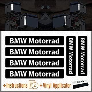 6pcs Reflectantes Adhesivos Compatible para Motorrad R 1200 1150 F 800 650 F700 GS A R1200GS R1200 Touratech Motorcycle Aluminium Panniers Bolsas Laterales Top Case (Black)