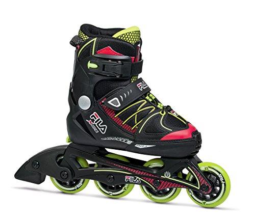 Patins Infantil Fila X-One Boy Infantil Fila Skates meninos PRETO/VERDE CLARO G