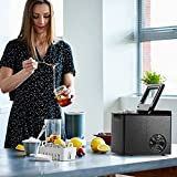 Vremi Very Nice Ice Maker for Countertop - Fast 8-Minute Ice Production - Beautiful Bullet-Shaped Cubes - Makes 26 Pounds Per Day - Energy Efficient with Slick Silver and Black Design