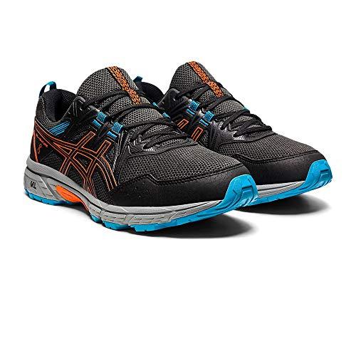ASICS Gel-Venture 8, Trail Running Shoe. Uomo, Black Marigold Orange, 40.5 EU