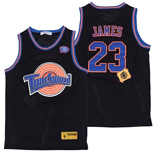 XXJJ Lebron Space Jam - Camiseta de baloncesto retro de los años 90, color negro