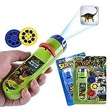 Wenosda Diaprojektor Taschenlampe Projektionslicht Spielzeug Taschenlampen Lampe Taschenlampe Schlafenszeit Nachtlicht für Kinder, Kleinkinder, Kinder (48 Bilder, 2Set) (Dinosaurier + Ozean)