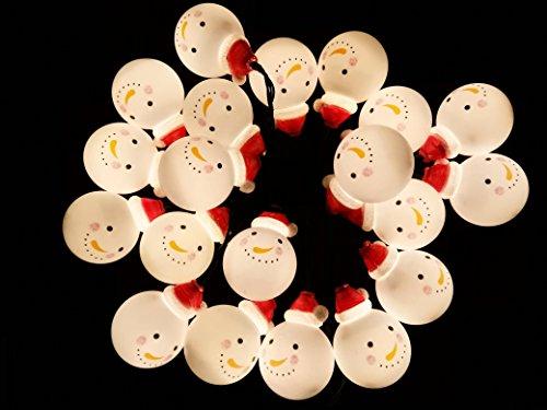 クリスマス 飾り イルミネーション 屋外 ソーラーライト 雪だるま サンタ 20球