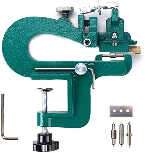 YaeTek Manual Leather Skiver Leather Splitter Leather Paring Machine Leather Craft Edge Skiving Machine with 18 Blades