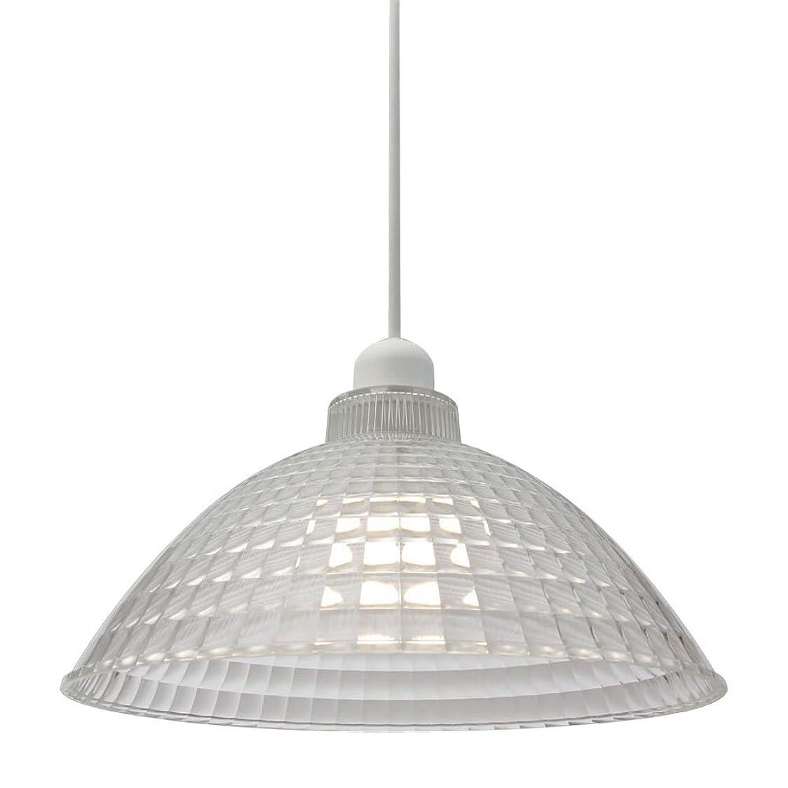 広々とした特徴づける会うアイリスオーヤマ LEDペンダントライト LED電球セット Lapin ガラス調 Mサイズ クリア PL8L-E26CG1