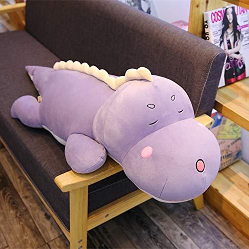 Boufery Plüsch Dinosaurier Stofftier Tiere Puppe, Gefülltes Kissen, Baby Schlafpuppe, Geburtstag für Kinder 100cm (Lila)