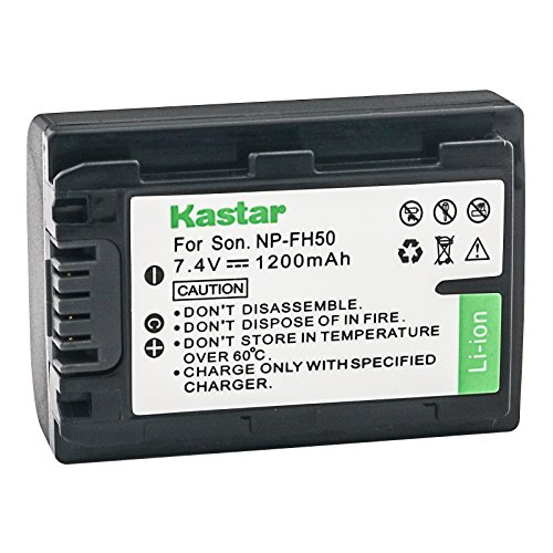 Kastar Battery for Sony NP-FH50 NP-FH40 NP-FH30 NP-FP50 NP-FP51 and Sony A230 A290 A390 DSC-HX1 HX100 HX100V HX200 HX200V HDR-TG1E TG3 TG5 TG7 Camera