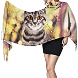 Jingliwang Schals Wickelschal Colorful owl smoke Scarf Women Cashmere Scarves Shawl Wrap Stylish Warm Soft Blanket Large