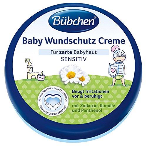 Bübchen Baby Wundschutz Creme, sensitive Wundheilsalbe, Wund- und Heilsalbe für zarte Babyhaut, mit Zinkoxid, Kamille und Panthenol, Menge: 1 x 150 ml