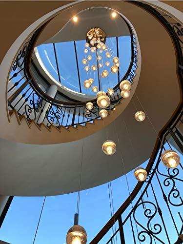 SHIJING Große Halle modernen Kristall Kronleuchter Treppe Kronleuchter Lampe oval 50 Kopf 100{a2ba6ac96396135dd2418d432bb77e48de6cba6baf14152cca3435584b891f26} Höhe 7 Meter