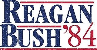 HZ Graphics Reagan/Bush '84 Campaign Sign (Grunge/Distressed) Vinyl Decal Wall Laptop Bumper Sticker 5