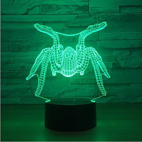 7 lámpara de mesa Spider 3D de color Led lámpara de luz de noche de acrílico