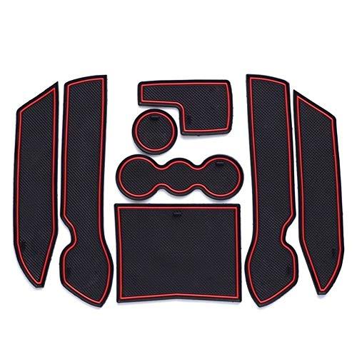 Tragamonedas enojada Puerta ranura del cojín interior de la puerta del cojín estera de la taza for Volkswagen Bora 2008 2009 2010 2011 2012 antideslizante alfombras de coche que labra los accesorios