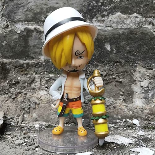 ShengYangSM Gold First Bullet/Q Version Sanji Figure/One Piece Doll Decoration Model/PVC Cartoon Character Model Collection Toy 4.72in