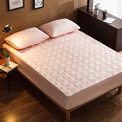 CYYyang Protector de colchón, algodón, poliéster, Una Sola Pieza de Funda Protectora de Color Puro para sábana-6_180 * 220cm