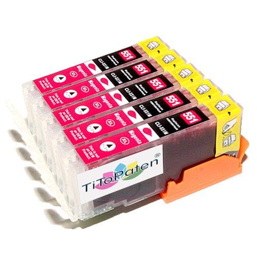 *TITOPATEN* - 5X Canon Pixma IP 7250 kompatible XL Druckerpatronen - Magenta - Patrone MIT CHIP !!!Hohe Laufleistung!!!