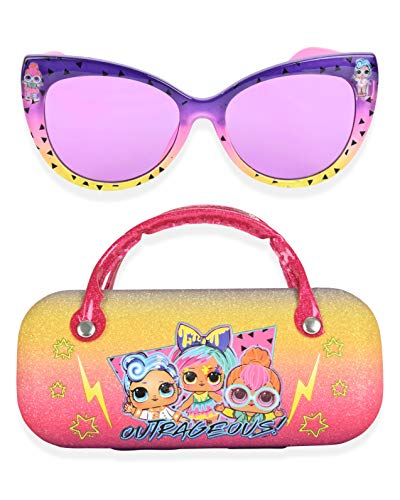 LOL Surprise Kids Sunglasses for Girls, Toddler Sunglasses with Kids Glasses Case (Pink)